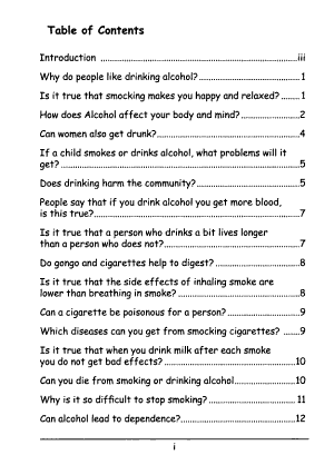 The Questions Adolescents Ask Most Frequently about     and Their Answers  Alcohol and cigarettes