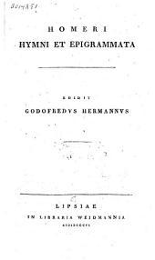 Homeri Hymni et Epigrammata