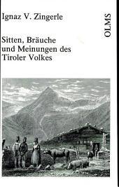 Sitten, Bräuche und Meinungen des Tiroler Volkes