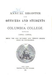 Catalogue of the Officers and Students of Columbia College, for the Year ...