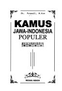 Kamus Jawa Indonesia populer PDF