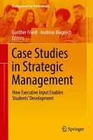 Case Studies in Strategic Management PDF