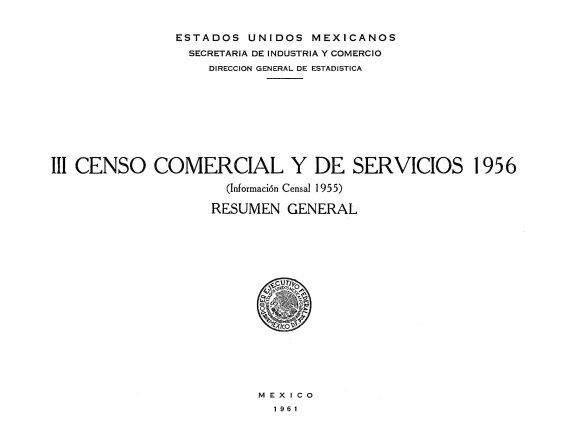 III Censo Comercial y de Servicios 1956  Informaci  n censal 1955  Resumen general PDF