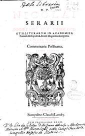 R.P. Nicolai Serarii Societatis Iesu ... In libros Regum et Paralipomenon commentaria posthuma