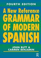 A New Reference Grammar of Modern Spanish  4th edition PDF