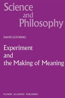 Experiment and the Making of Meaning PDF
