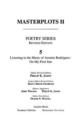 Masterplots II