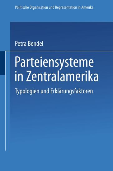 Parteiensysteme in Zentralamerika PDF