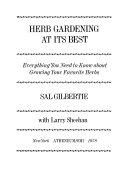 Herb Gardening at Its Best