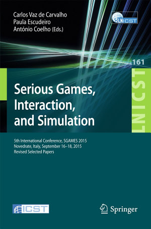 Serious Games  Interaction  and Simulation