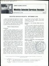 Current Business Reports: Monthly selected services receipts. BS, Volume 3