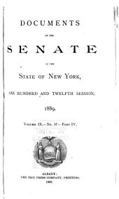 Documents of the Senate of the State of New York: Volume 9