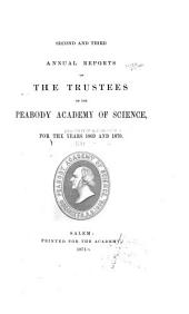 Annual Report of the Trustees of the Peabody Academy of Science: Volumes 2-4