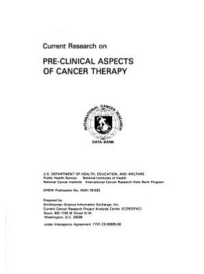 Current Research on Pre clinical Aspects of Cancer Therapy PDF