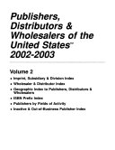 Publishers  Distributors    Wholesalers of the United States PDF