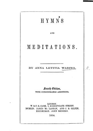 Hymns and Meditations  Third edition  with     additions
