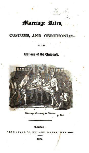Marriage Rites  Customs and Ceremonies  of the nations of the universe   The preface is signed  A  H   i e  Lady Augusta Hamilton