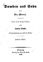 Dombey und Sohn von Boz Dickens: Aus dem Englischen von Julius Seybt. Mit Federzeichnungen von Hablot K. Browne, Band 10