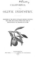Proceedings of the     State Convention of Olive Growers PDF