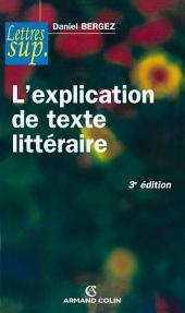 L'explication de texte littéraire