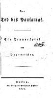 Der    Tod des Pausanias PDF