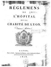 Règlements de l'Hôpital de la Charité de Lyon