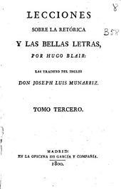 Lecciones sobre la Retórica y las Bellas Letras