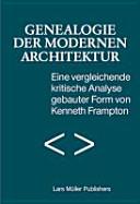 Genealogie der modernen Architektur PDF