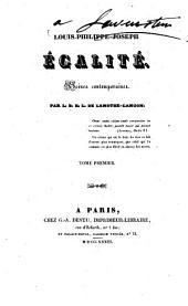 Louis-Philippe-Joseph Égalité: scènes contemporaines, Volume1