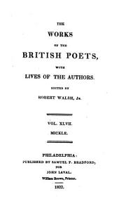 The Works of the British Poets: Camões, Luiz De, The Lusiad; or The Discovery of India...tr. by Wm. Julius Mickle