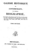 Galerie historique des contemporains ou nouvelle Biographie PDF