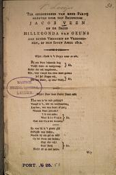 Ter gelegenheid van een partij gegeven door den bruidegom Jacob Veen en de bruid Hillegonda van Geuns aan hunne vrienden en vriendinnen, op den 8sten April 1812