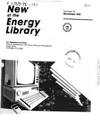 New at the Energy Library PDF