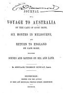 Journal of a Voyage to Australia by the Cape of Good Hope PDF