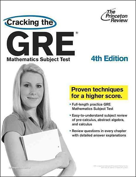 Cracking The Gre Mathematics Subject Test