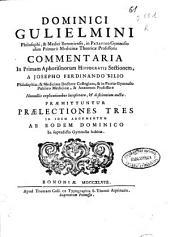 Dominici Guglielmini ... Commentaria in primam Aphorismorum Hippocratis sectionem