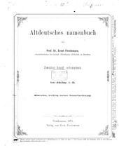 Altdeutsches Namenbuch: Zweite, völlig neue Bearbeitung. Ortsnamen, Band 2