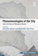 Phenomenologies of the City