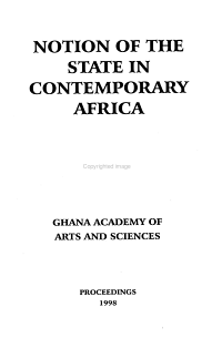 Notion of the State in Contemporary Africa PDF