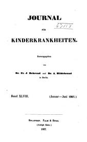 Journal für Kinderkrankheiten: Bände 48-49