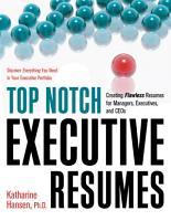 Top Notch Executive Resumes PDF