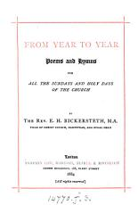 From year to year  poems and hymns PDF