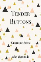 Tender Buttons PDF