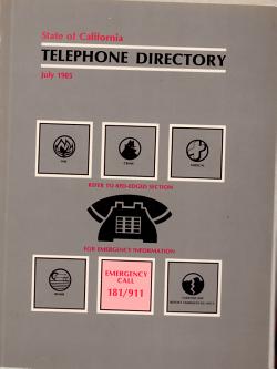 State of California Telephone Directory PDF
