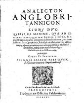 Analecta anglo-britannica