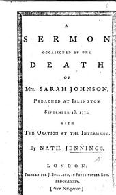 A sermon [on Rev. xv. 3] occasioned by the death of Mrs. S. Johnson, etc