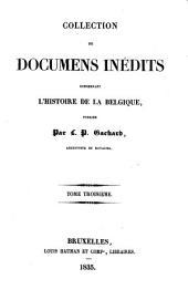Collection de documents inédits concernant l'histoire de la Belgique