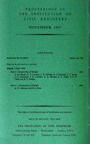 Proceedings - Institution of Civil Engineers
