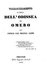Volgarizzamento in prosa dell' Odissea di Omero per Cornelia Sale-Mocenigo-Codemo