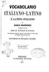 Vocabolario italiano-latino e latino-italiano accomodato all'uso delle scuole d'Italia di Carlo Mandosio